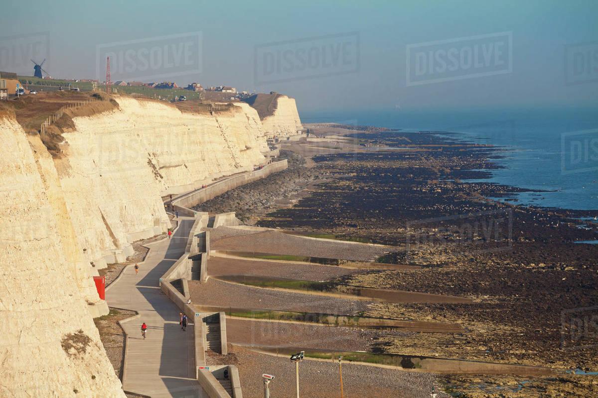 Chalk cliffs by Brighton Marina, Brighton, Sussex, England, United Kingdom, Europe Royalty-free stock photo