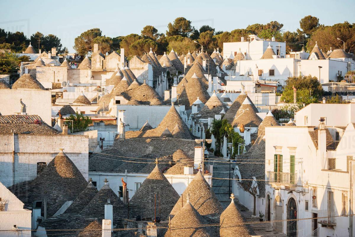 Traditional Trulli Style Houses In Alberobello Unesco World