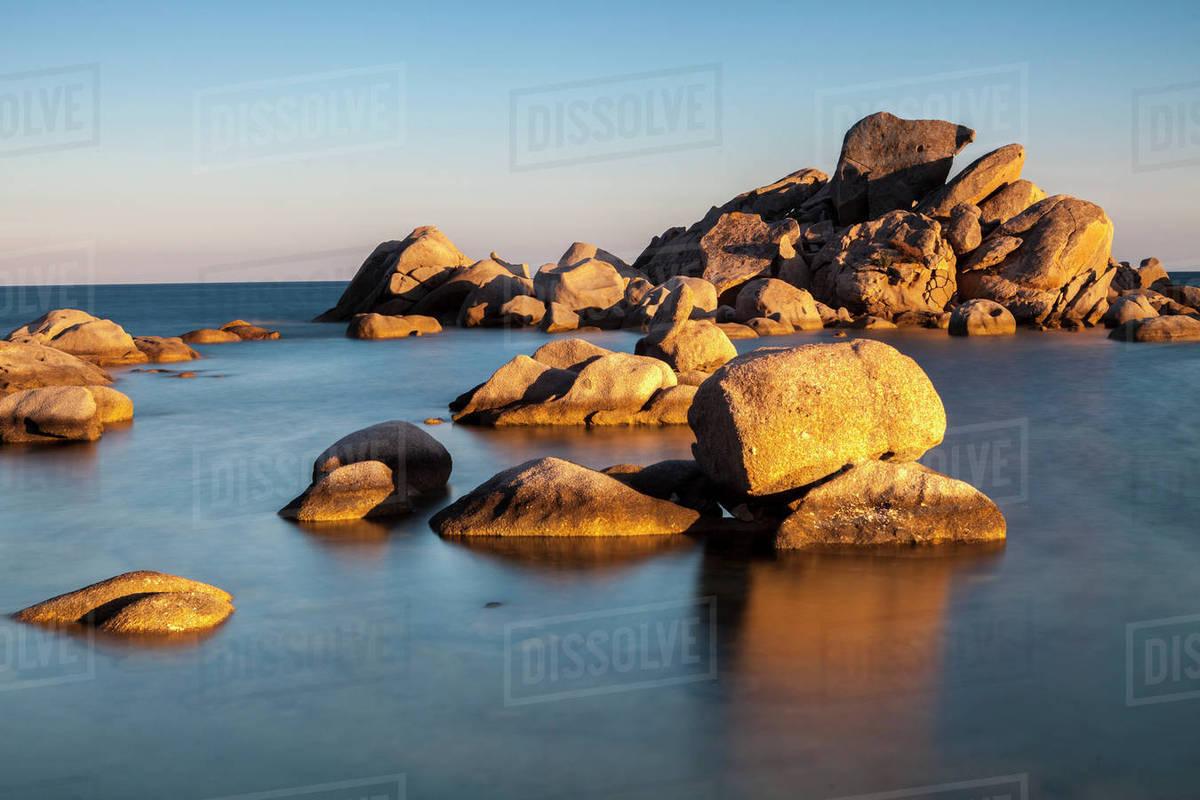 Rocks Palombaggia Beach Corsica France Mediterranean Europe