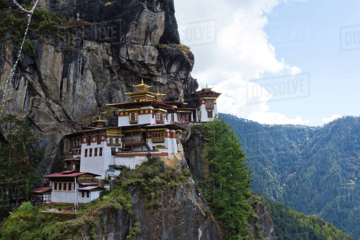 The Taktsang Tigers Nest Monastery Paro Bhutan Himalayas Asia