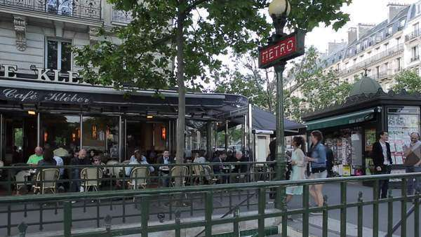 Metro, Shops and Cafes at the Trocadero, Paris, France, Europe Royalty-free stock video
