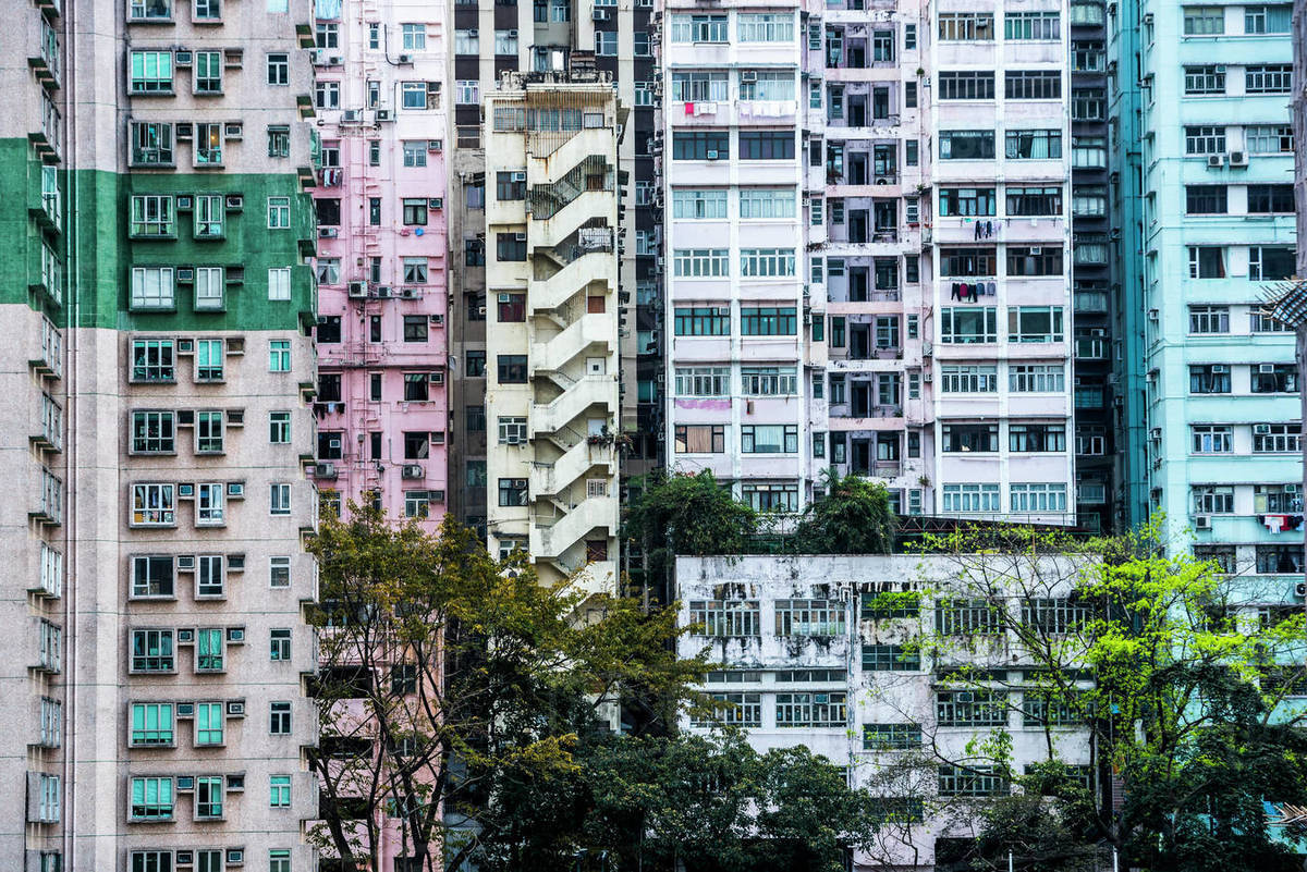 Flats In An Apartment Block Hong Kong Island Hong Kong China