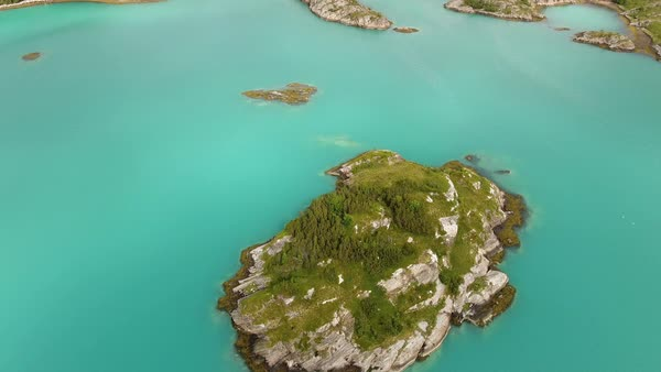 Norwegian Fjord and coast from drone aerial view Royalty-free stock video