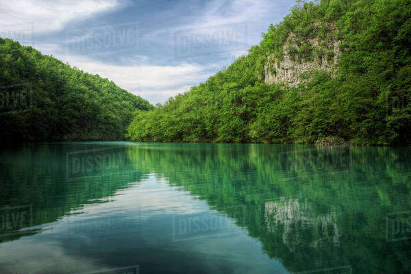 Milanovac Jezero (Lake) Plitvice National Park, Croatia Royalty-free stock photo