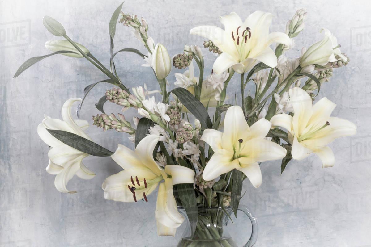 Mexico San Miguel De Allende Flower Arrangement With Lilies