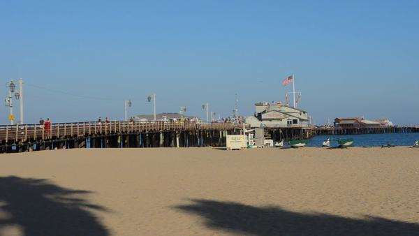Santa Barbara California Ca Waterfront Pier And Beaches For Tourists Royalty Free Stock Video