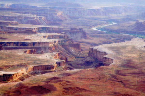 USA, Utah, Canyonlands National Park. View of the Green River Overlook. Royalty-free stock photo