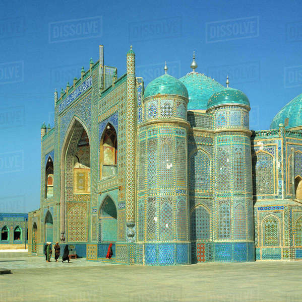 Afghanistan, Mazar-i-Sharif. The Shrine of Hazrat Ali in Mazar-i-Sharif is one of the main pilgrimage sites in Afghanistan. Royalty-free stock photo