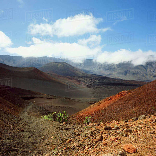 Haleakala Crater Maui Hawaii from the Crater Rim near Visitor center towards Ko'olau Gap Royalty-free stock photo