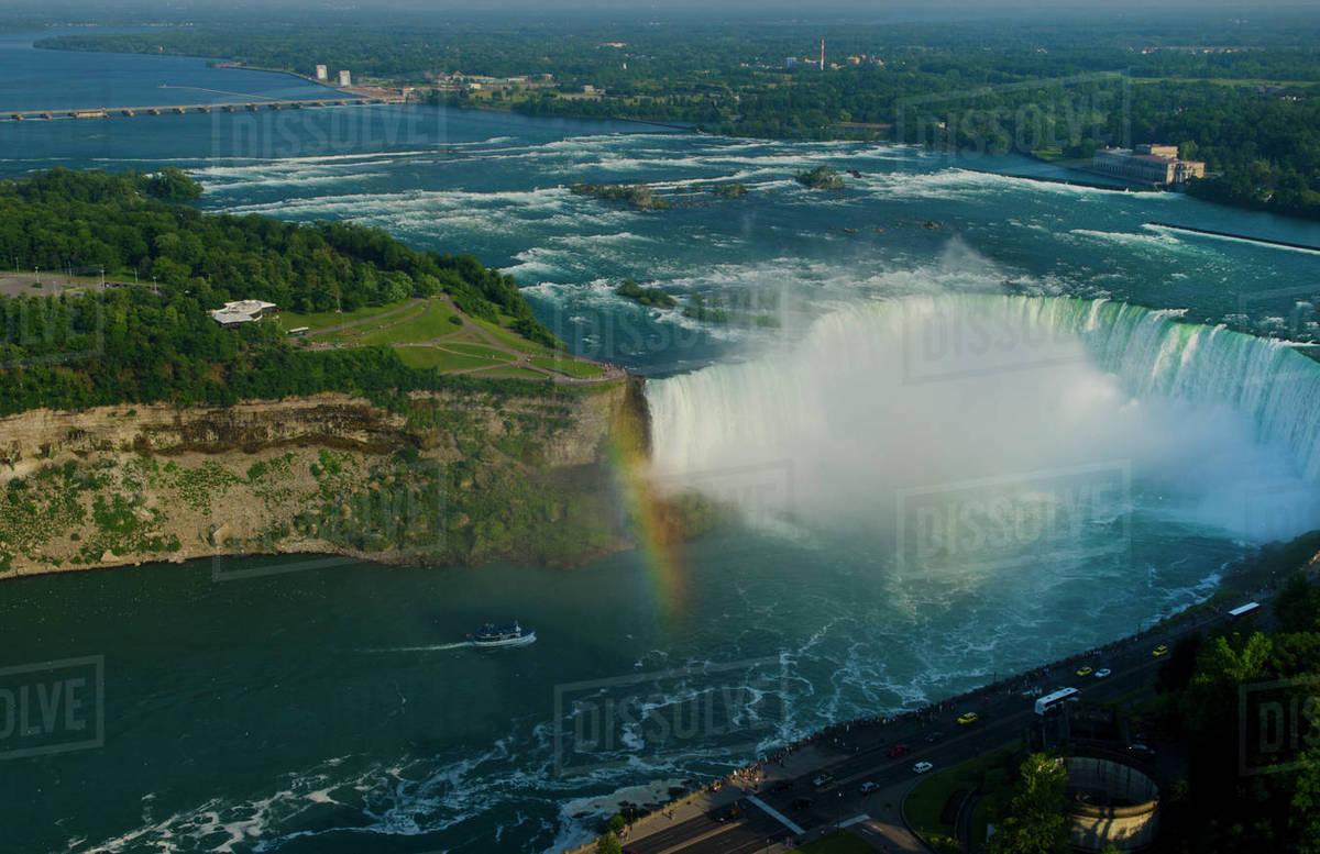 Niagara Falls New York And Canada Horseshoe Falls From Above D256 57 729