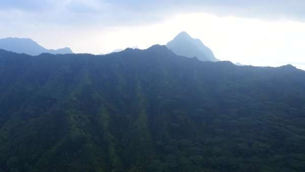 Koolau Mountains, Oahu, Hawaii Rights-managed stock video
