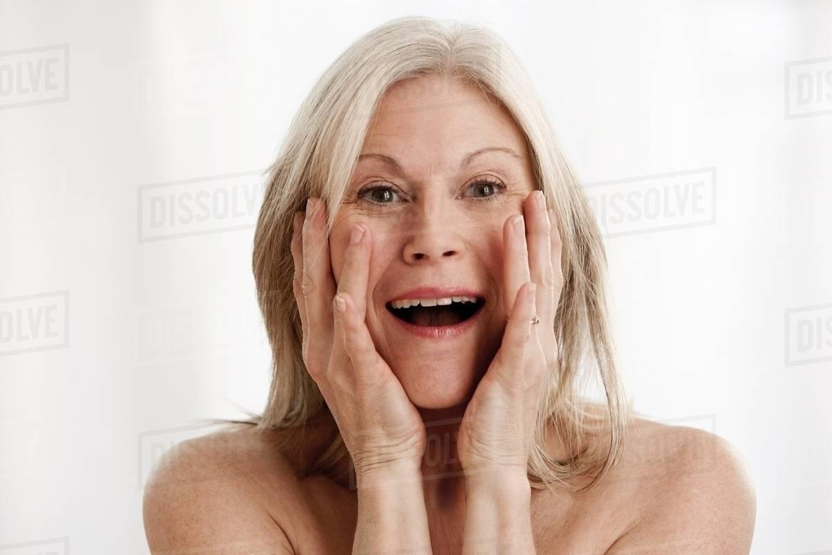 Mature Woman Surprised Portrait