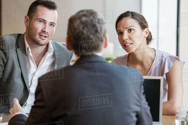 Businessmen and businesswoman working Royalty-free stock photo