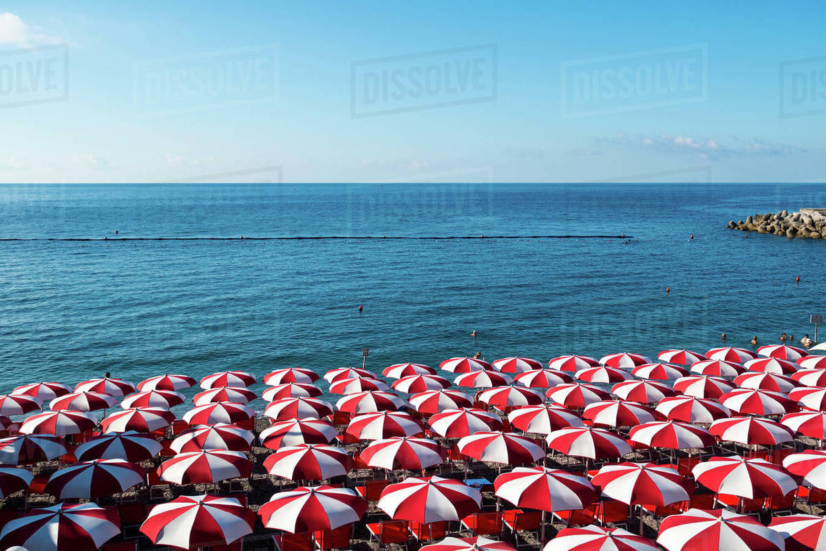 Beach Umbrellas Amalfi Coast Italy D25 145 289