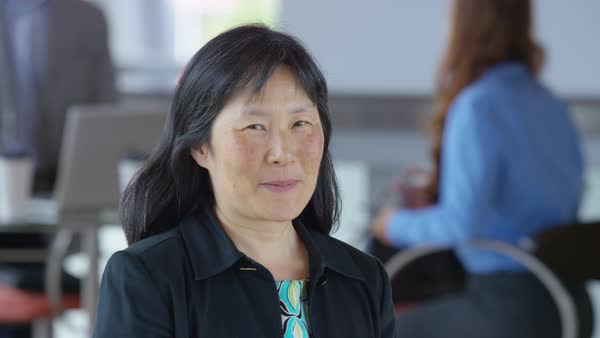 Portrait of mature Asian businesswoman Royalty-free stock video