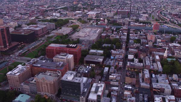 Aerial view of Philadelphia, Pennsylvania Royalty-free stock video