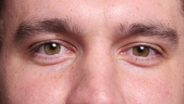 Extreme closeup of man's eyes Royalty-free stock video