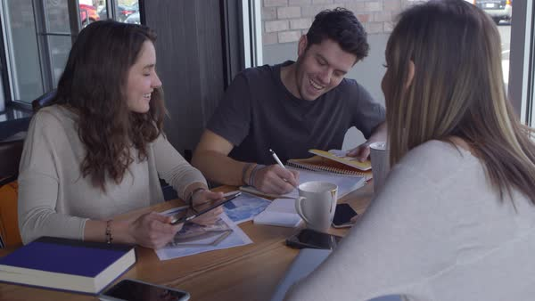 Group of young business people working together in casual workspace Royalty-free stock video