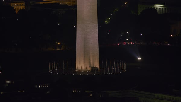 Washington Monument, tilt up from base to top.   Royalty-free stock video