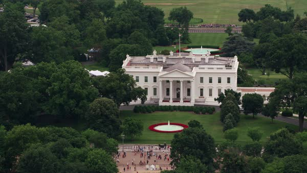 Aerial view of White House.   Royalty-free stock video