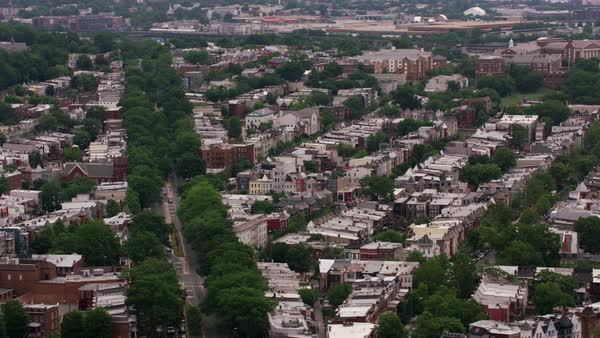 Aerial view of Washington D.C. neighborhood.   Royalty-free stock video