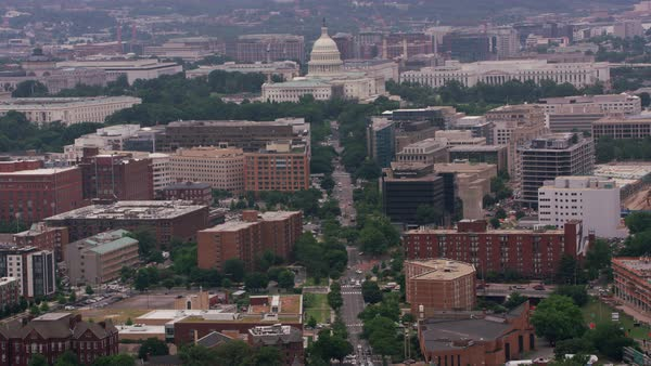 Aerial view of Capitol building and surrounding area.   Royalty-free stock video