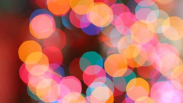 Close-up shot of blurred Christmas lights Royalty-free stock video