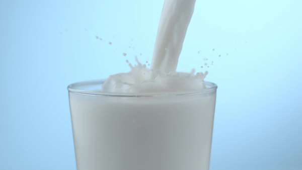 Milk pouring and splashing in slow motion Royalty-free stock video