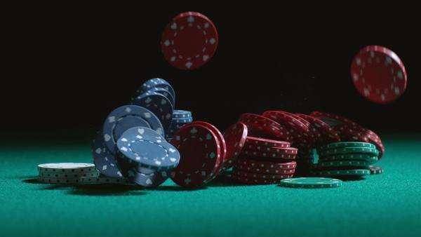 Poker chips falling in slow motion Royalty-free stock video