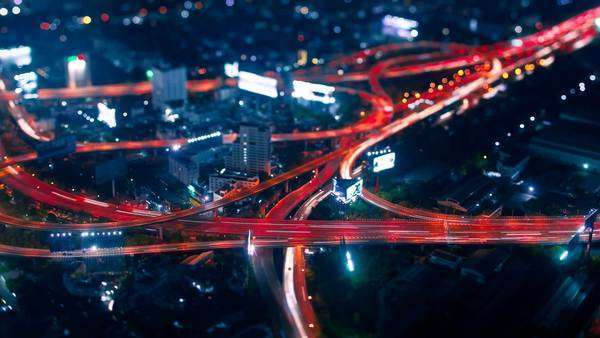 Timelapse Traffic in Bangkok by Night Royalty-free stock video
