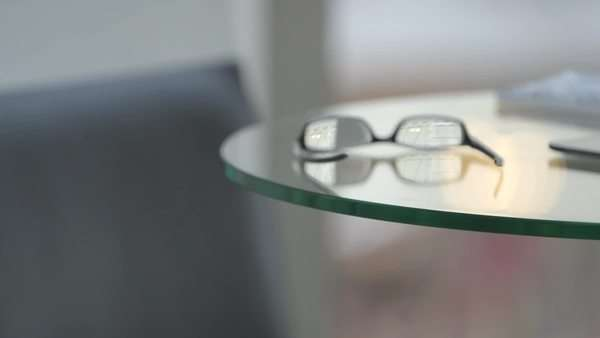 Close-up of table with glasses Royalty-free stock video