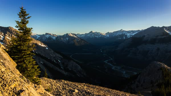 Sunset in the Kananaskis Mountain Range Royalty-free stock video