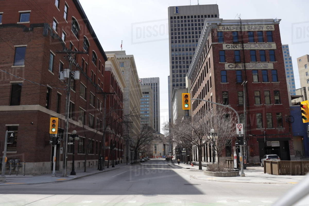 Downtown Winnipeg Royalty-free stock photo