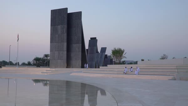 Wahat Al Karama, Memorial to honour the UAE's martyrs, Abu Dhabi, United Arab Emirates, UAE Royalty-free stock video