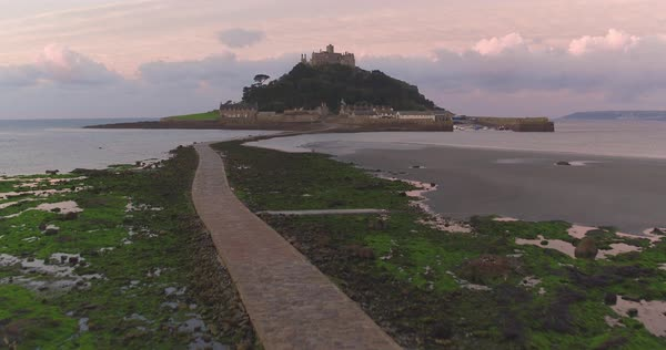 United Kingdom, England, Cornwall, Marazion, St. Michaels Mount Royalty-free stock video
