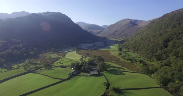 England, Cumbria, Lake District National Park, Borrowdale Valley, looking towards Stonethwaite Beck and the Langstrath Valley Royalty-free stock video