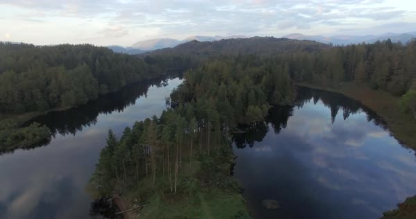 Tarn Hows near Hawkshead, Lake District, Cumbria, England, United Kingdom Royalty-free stock video