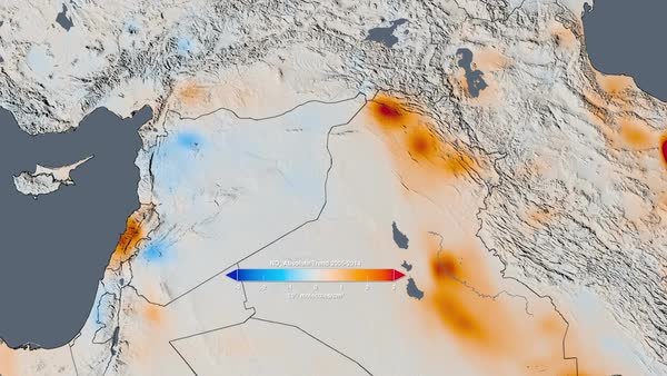 Air quality trends in the Persian Gulf. Map of the Persian Gulf ...