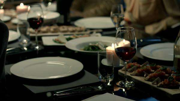 Group of friends having dinner together. Royalty-free stock video