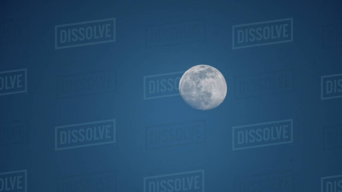 full moon by day Royalty-free stock photo