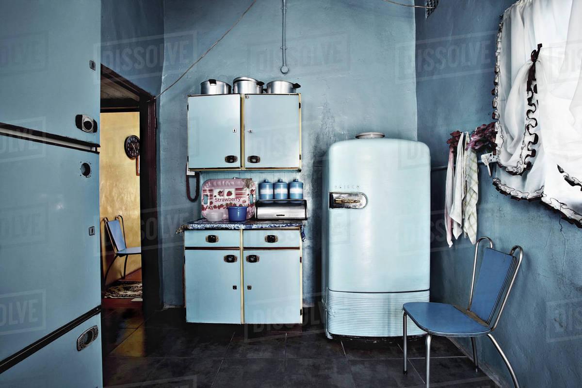Kitchen Inside Township House Soweto Johannesburg Gauteng