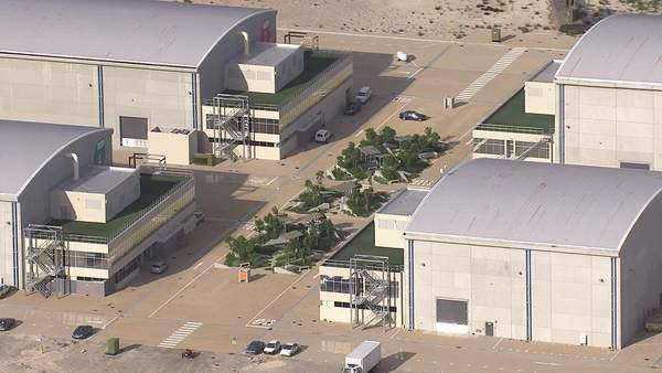 Aerial Shot Of Cape Town Film Studios Rights Managed Stock Video