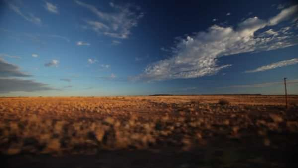 POV shot from a car moving through a desert Royalty-free stock video