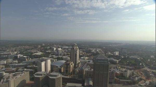 Cityscape of Johannesburg, Gauteng, South Africa Rights-managed stock video
