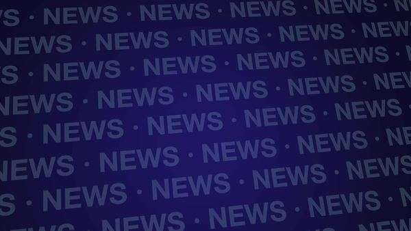 Computer Generated Animation Of A Blue News Background Loop Royalty Free Stock Video