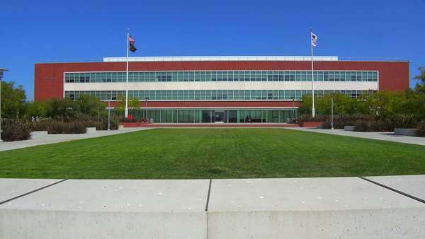 The beautiful modern art deco city hall of Richmond, California. Royalty-free stock video