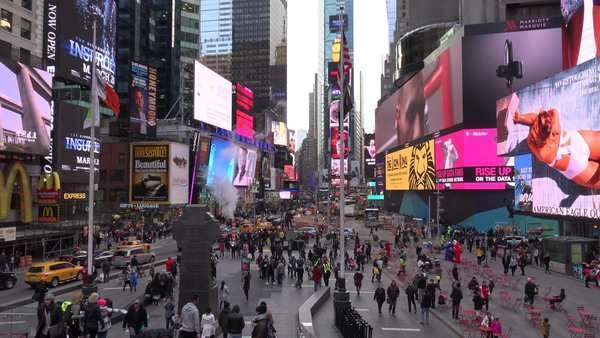 Crowded streets in Times Square, New York City. Royalty-free stock video