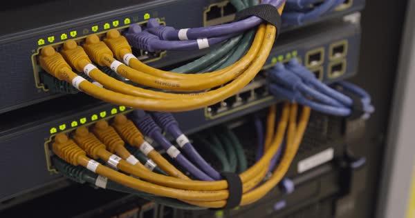 Server networking cables Royalty-free stock video