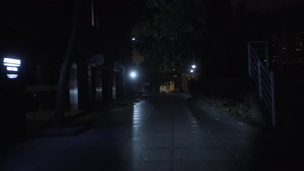 Point-of-view shot of riding through a dark street in Shanghai at night Royalty-free stock video