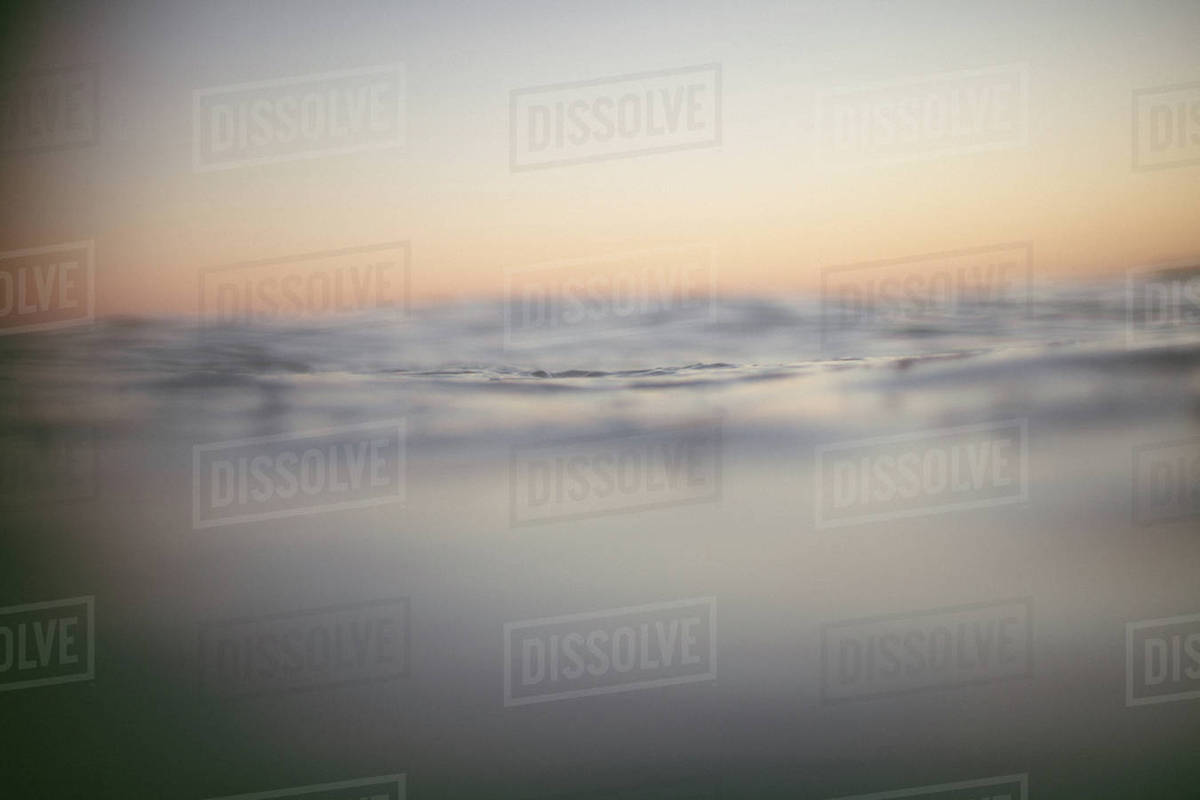 View of ocean during sunset Royalty-free stock photo